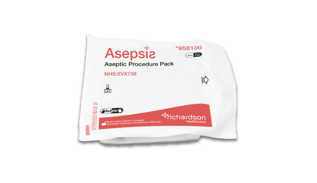 Asepsis aseptic sterile procedure pack pouch.