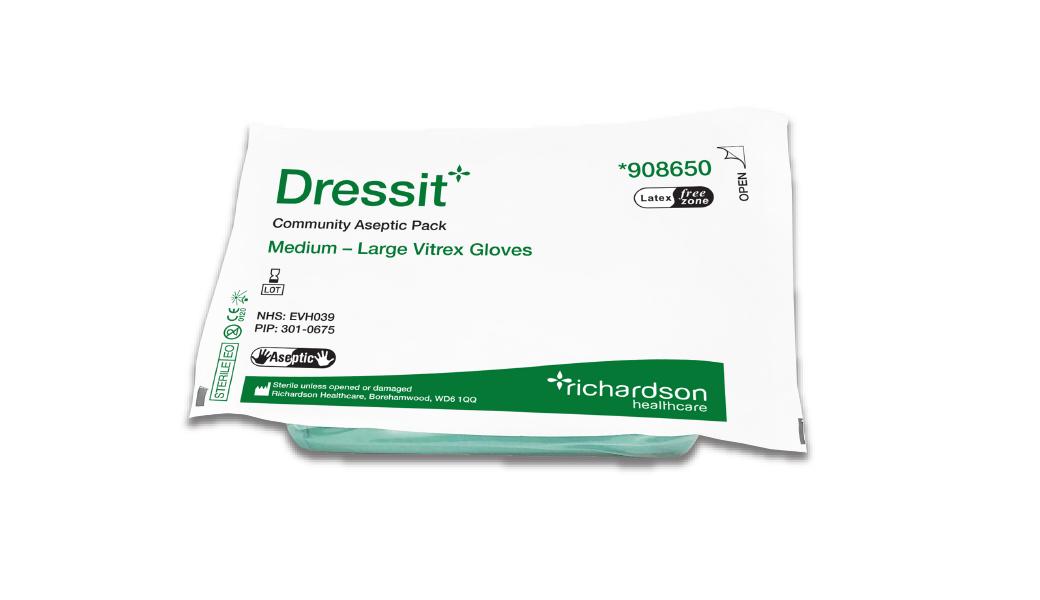 Dressit community sterile dressing pack pouch.