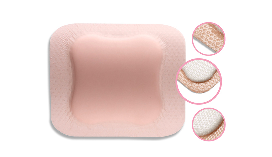 C-Foam Silicone Border is a high absorbency dressing.