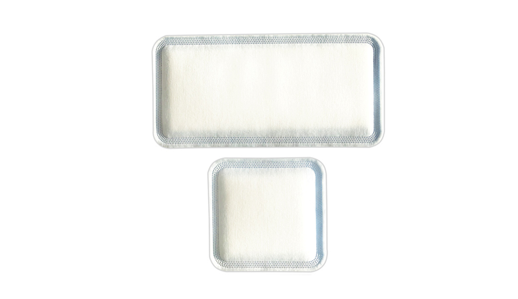 Two sizes of C-Sorb super adsorbent dressing