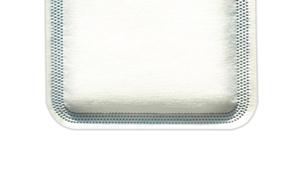 Close up on C-Sorb dressing back panel