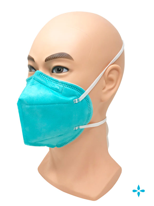 Green N95 Particulate Respirator Face Mask Head-Strap