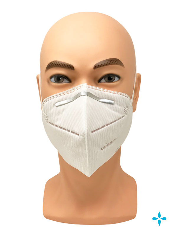 White N95 Particulate Respirator Face Mask Head-Strap