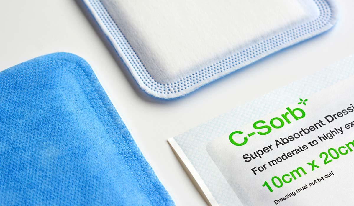 Super Absorbent Dressing - C-Sorb leading brand for NHS